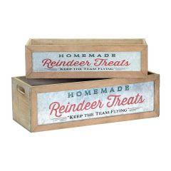 "17.5"" Wood Christmas Crate"
