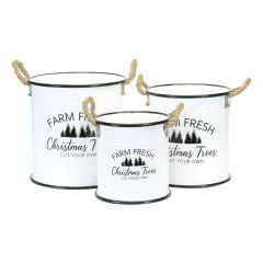 "9.75"" Farm Fresh Christmas Pot"
