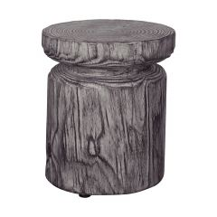 Faux Wood Stool Side Table