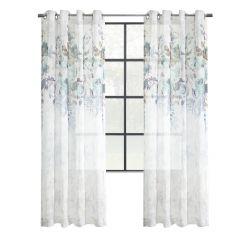 "84"" Floralie Light Filtering Grommet Curtain"