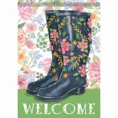 Welcome Boots Garden Durasoft Flag