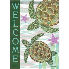 Sea Turtle Welcome Garden Durasoft Flag