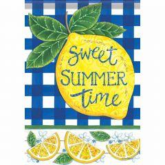 Sweet Summertime Garden Durasoft Glitter Flag