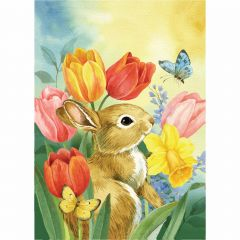 Tulip Bunny Garden Durasoft Flag
