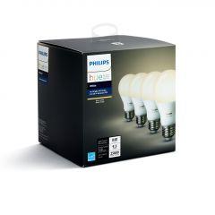 Hue LED White A19 Bulbs-4/Pack