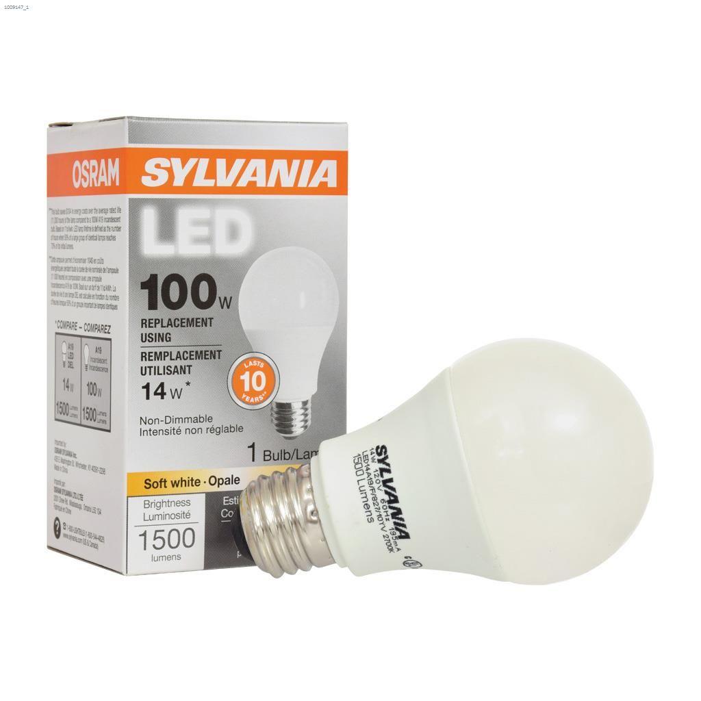 Frosted 14 Watt Medium A19 Led Bulb 1 Pack