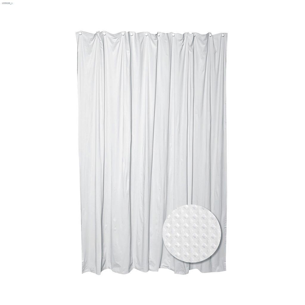 70 X 72 White Luxury Hotel Waffle Weave Shower Curtain