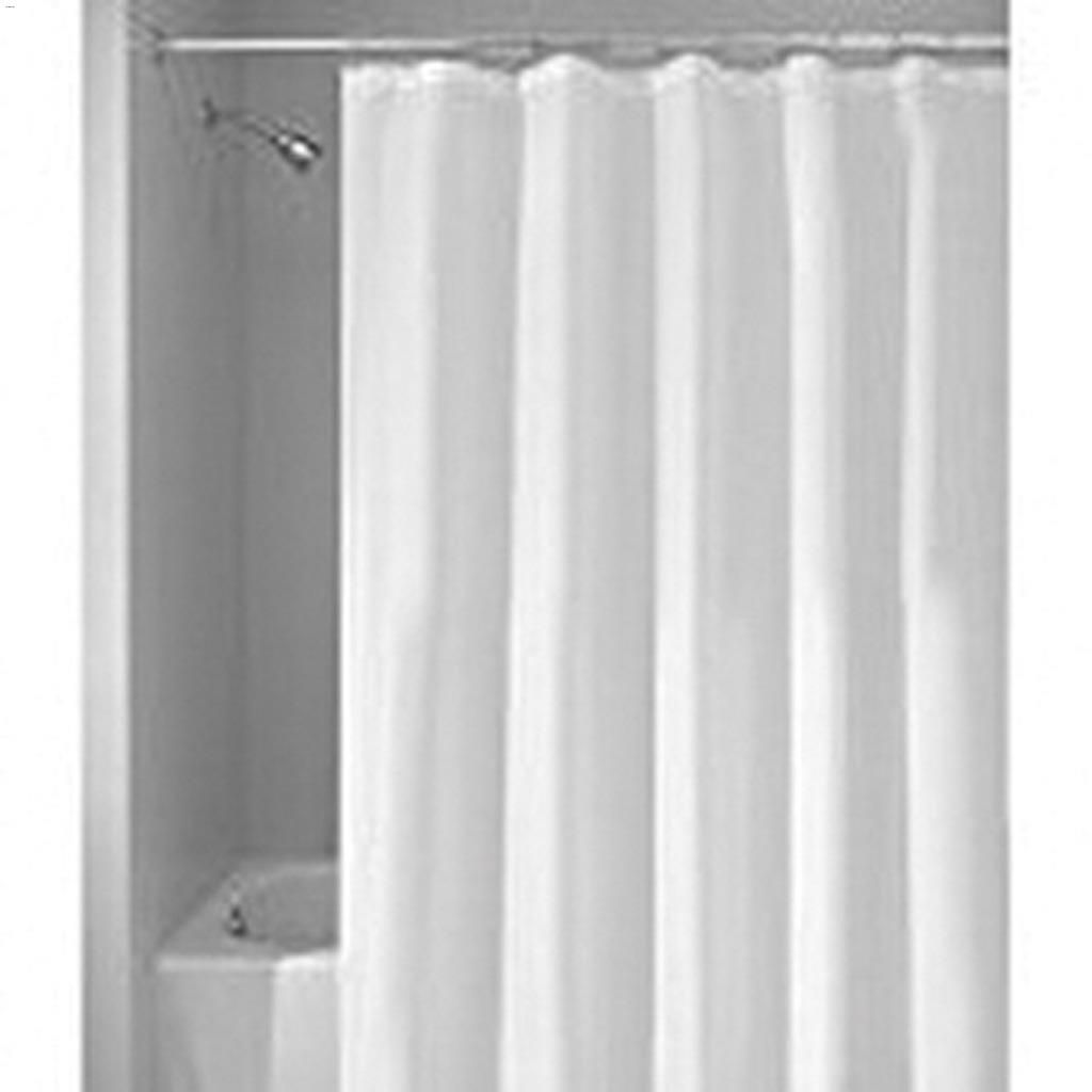 108 X 72 White Fabric Shower Curtain Liner