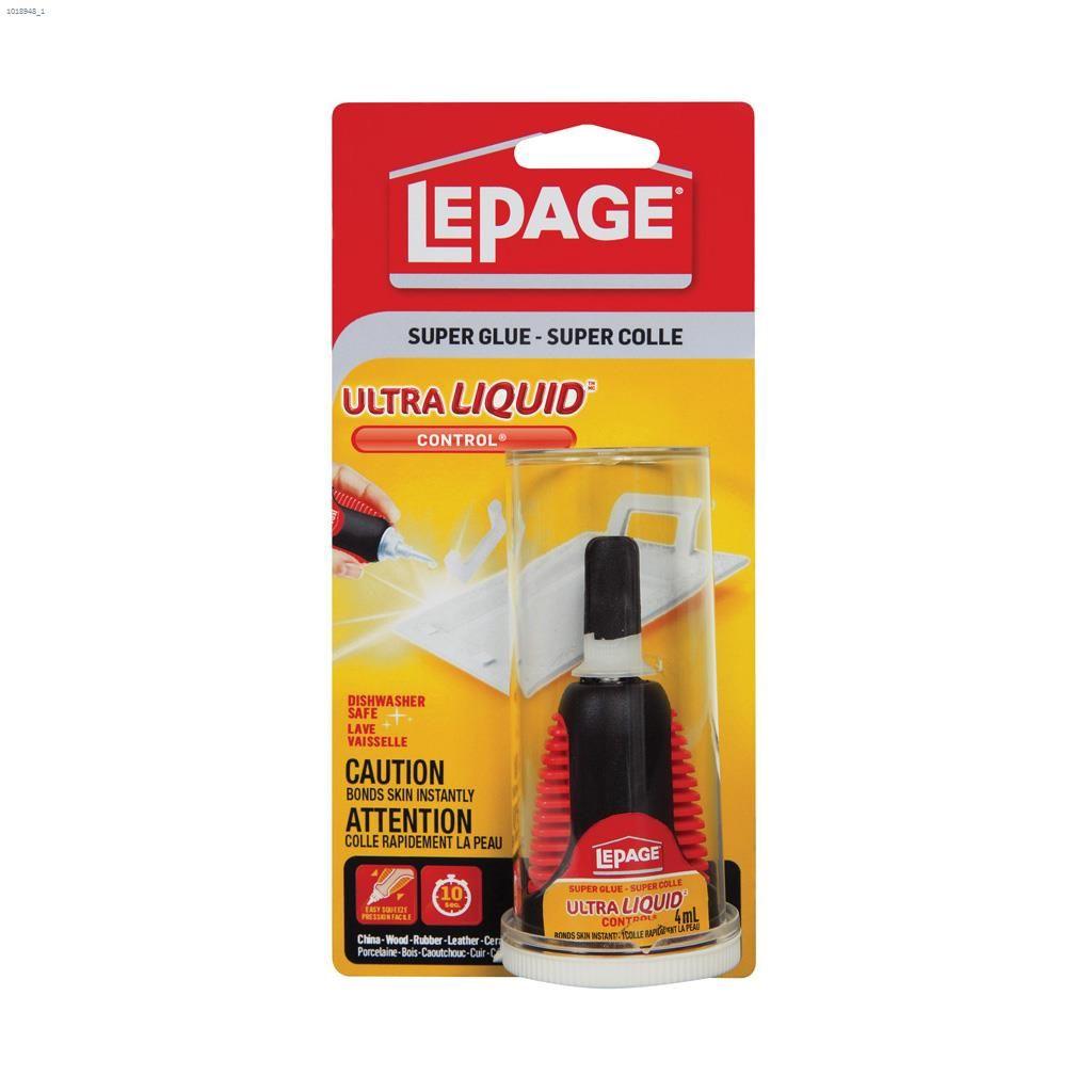 LePage® 4 mL Carded Bottle Super Glue Ultra Liquid™ Control®