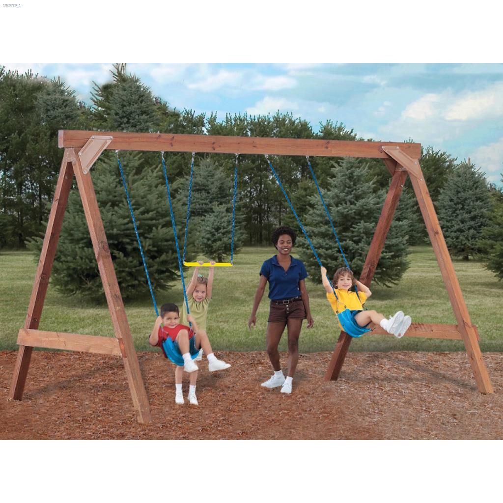 Scout Multicolor Custom Diy Swing Set With Hardware Kit