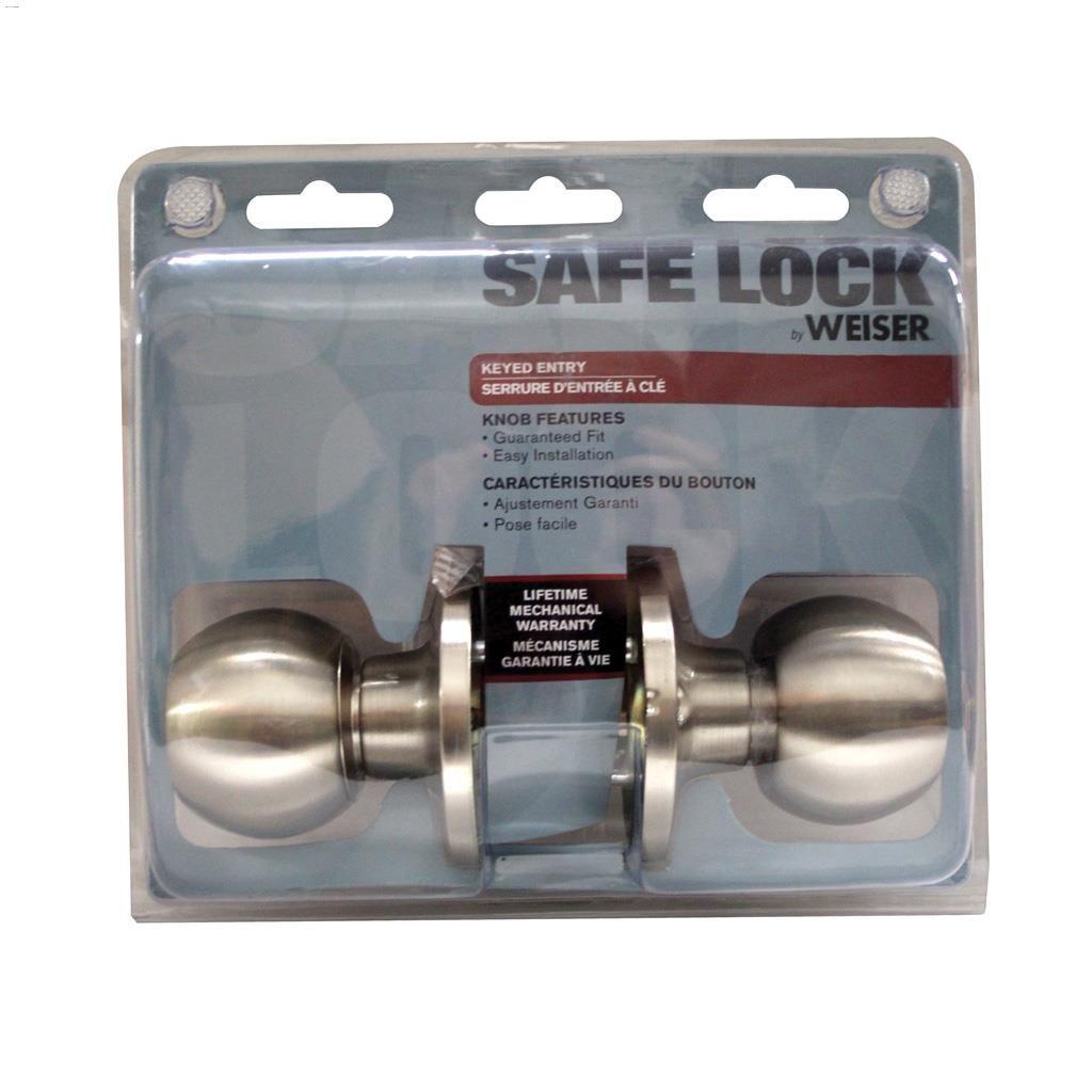 Entry Satin Nickel Safelock Regina Door Knob
