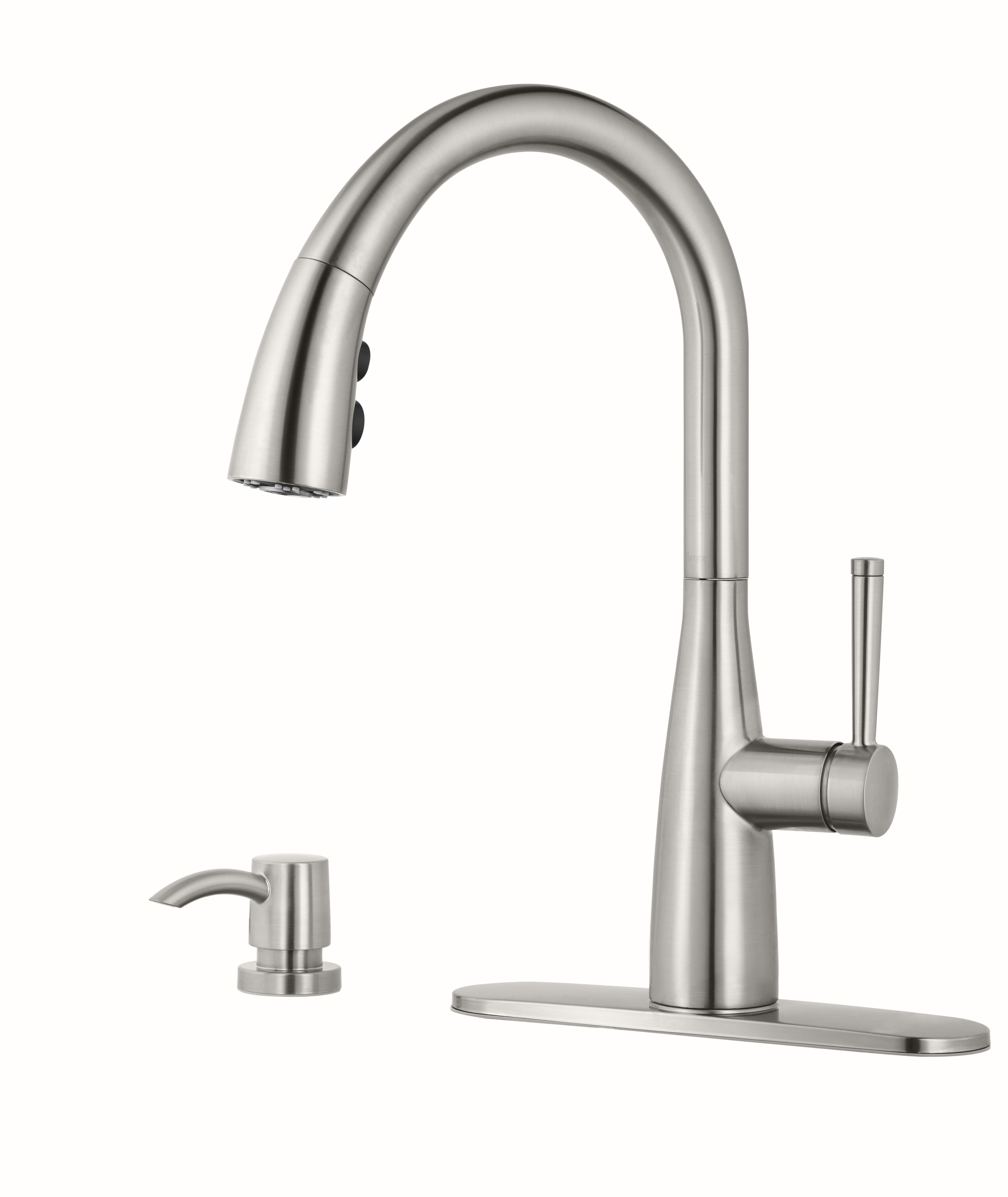 Raya Single Handle Stainless Steel Kitchen Faucet