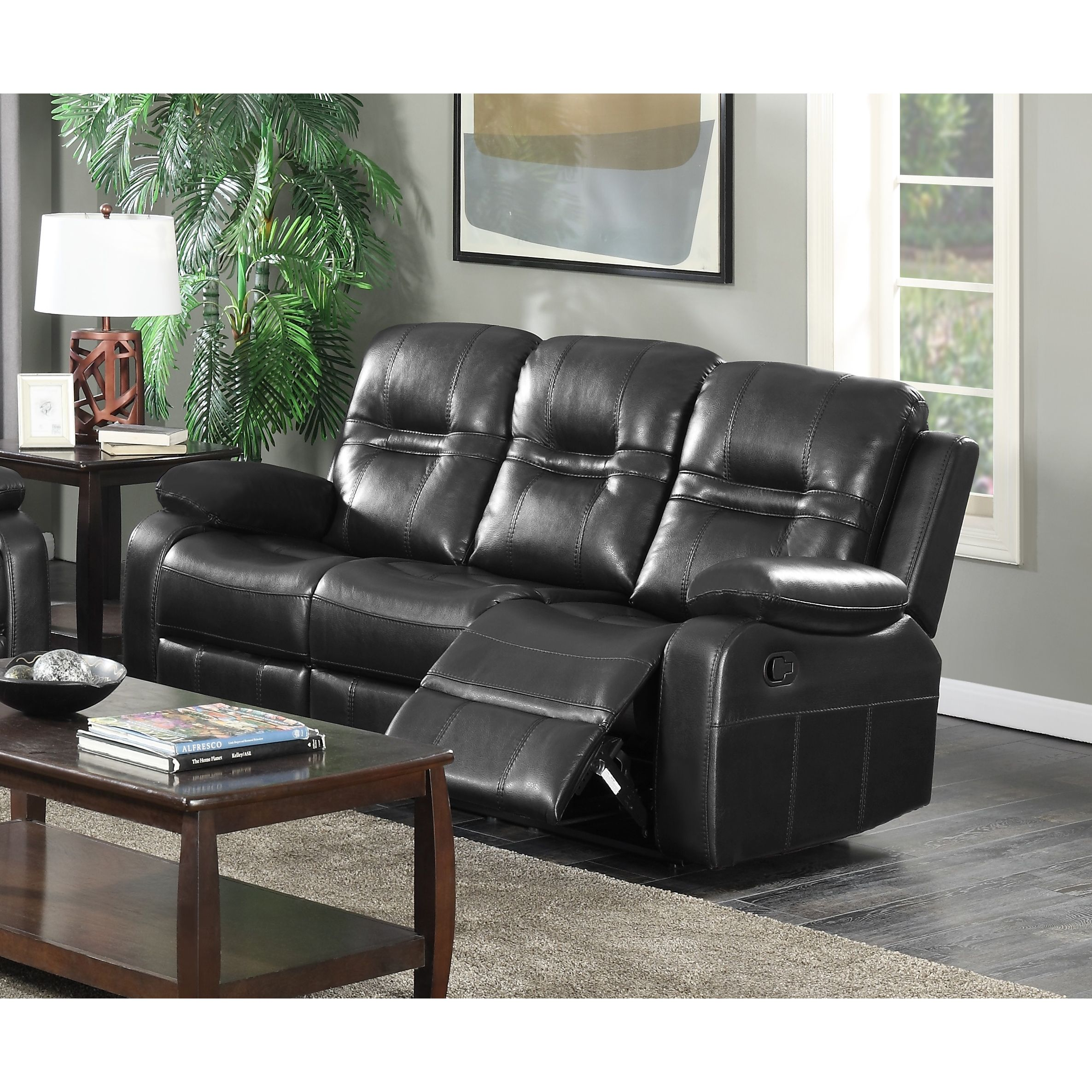 Prime Napolean Black Recliner Sofa Gmtry Best Dining Table And Chair Ideas Images Gmtryco