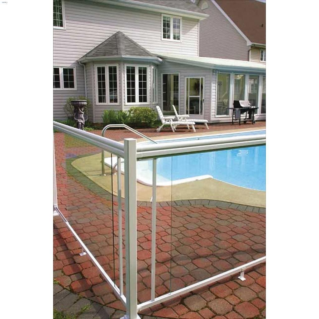 Picture of: Imperial Manufacturing Group 35 1 2 X 48 Clear Tempered Glass Deck Railings Kent Building Supplies