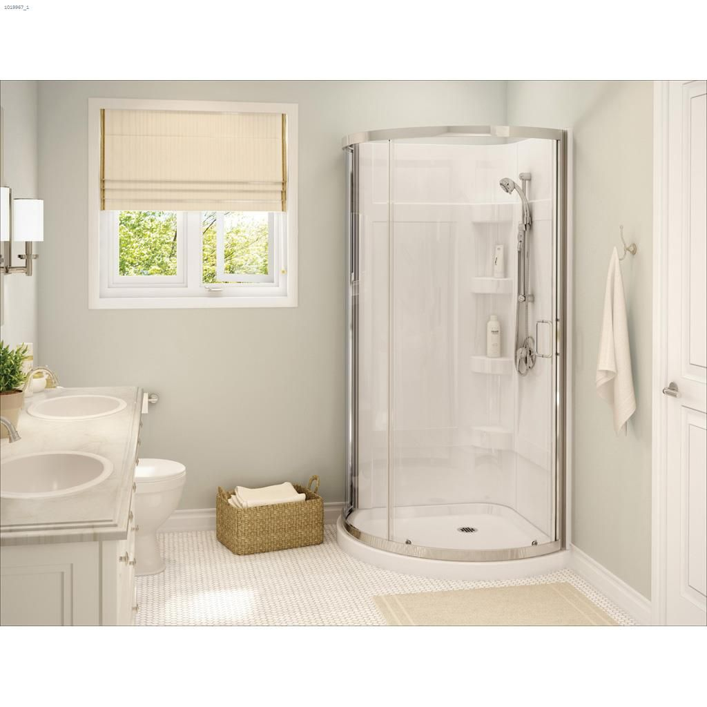 Picture of: Maax Bath Cyrene Clear Corner Shower Kit Shower Walls Surrounds Kent Building Supplies