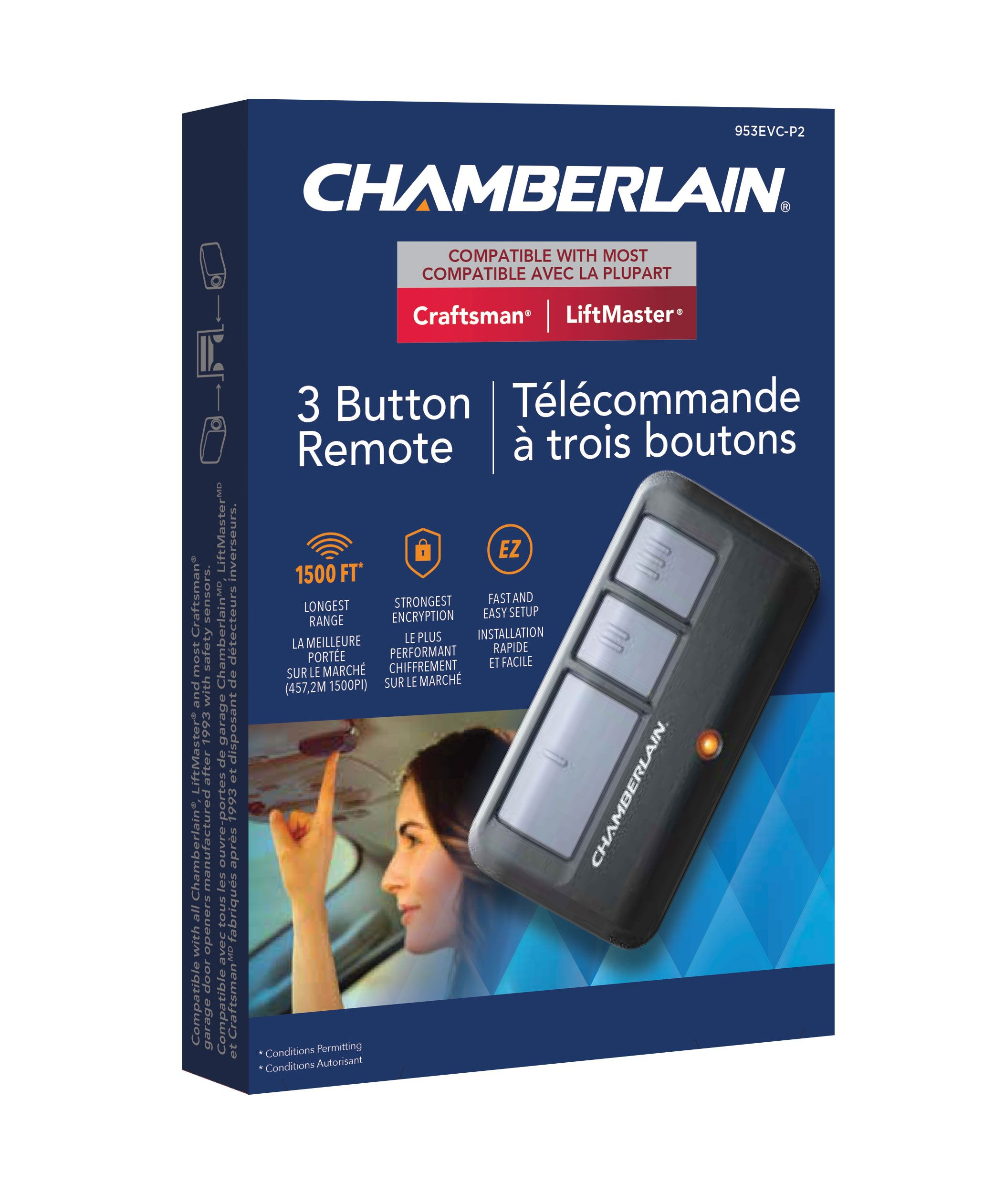 Chamberlain 3 Button Remote Garage Door Opener Accessories Kent Building Supplies