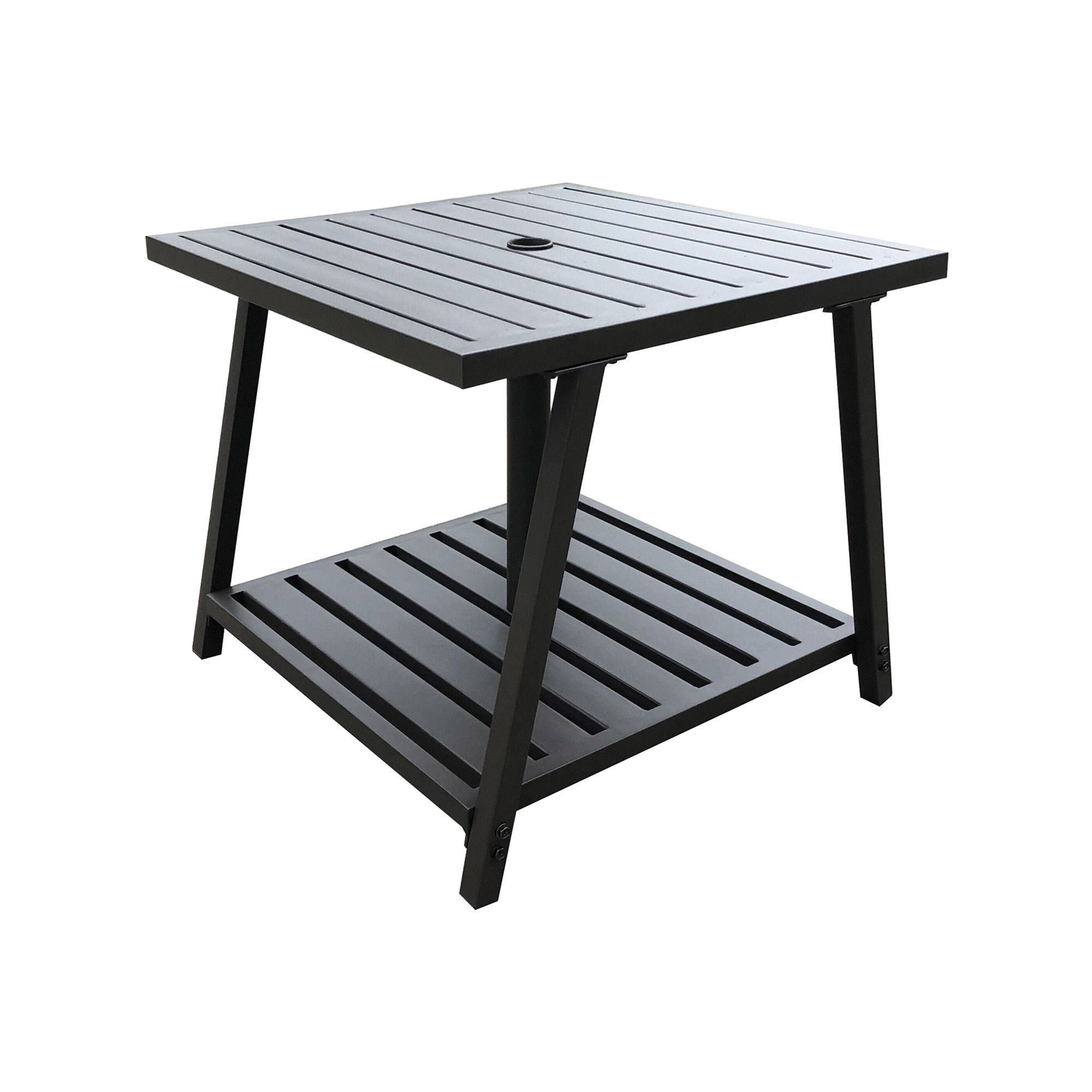 Kent Ca Slatted Steel Umbrella Base Table Your