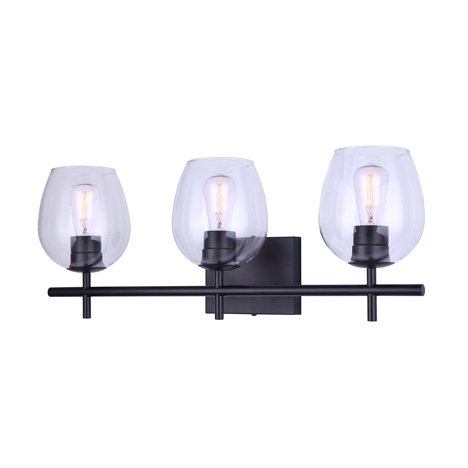 Cain 3 Light Matte Black Vanity Light Vanity Lighting Kent Building Supplies