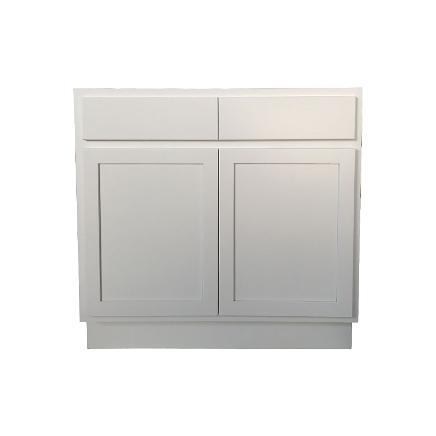 36 Inch Sink Base Cabinet White Shaker Assembled Kitchen Cabinets Kent Building Supplies