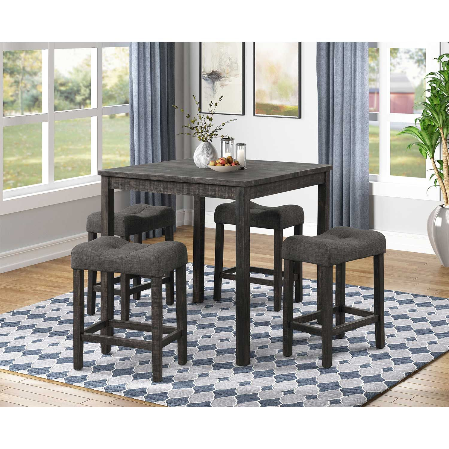 Square Coffee Table With 4 Stools Living Room Furniture Kent Building Supplies
