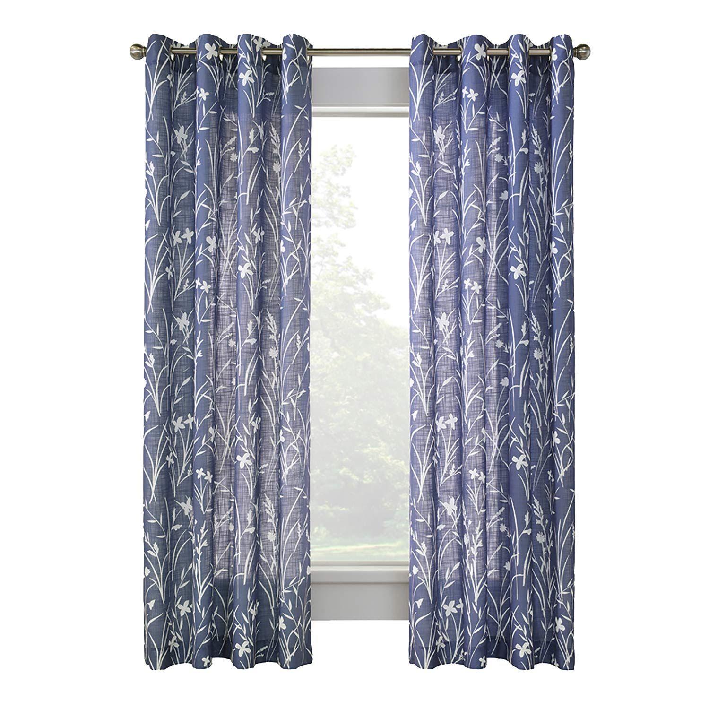 52 X 84 Augusta Blue Sheer Curtain Curtains Drapes Kent Building Supplies