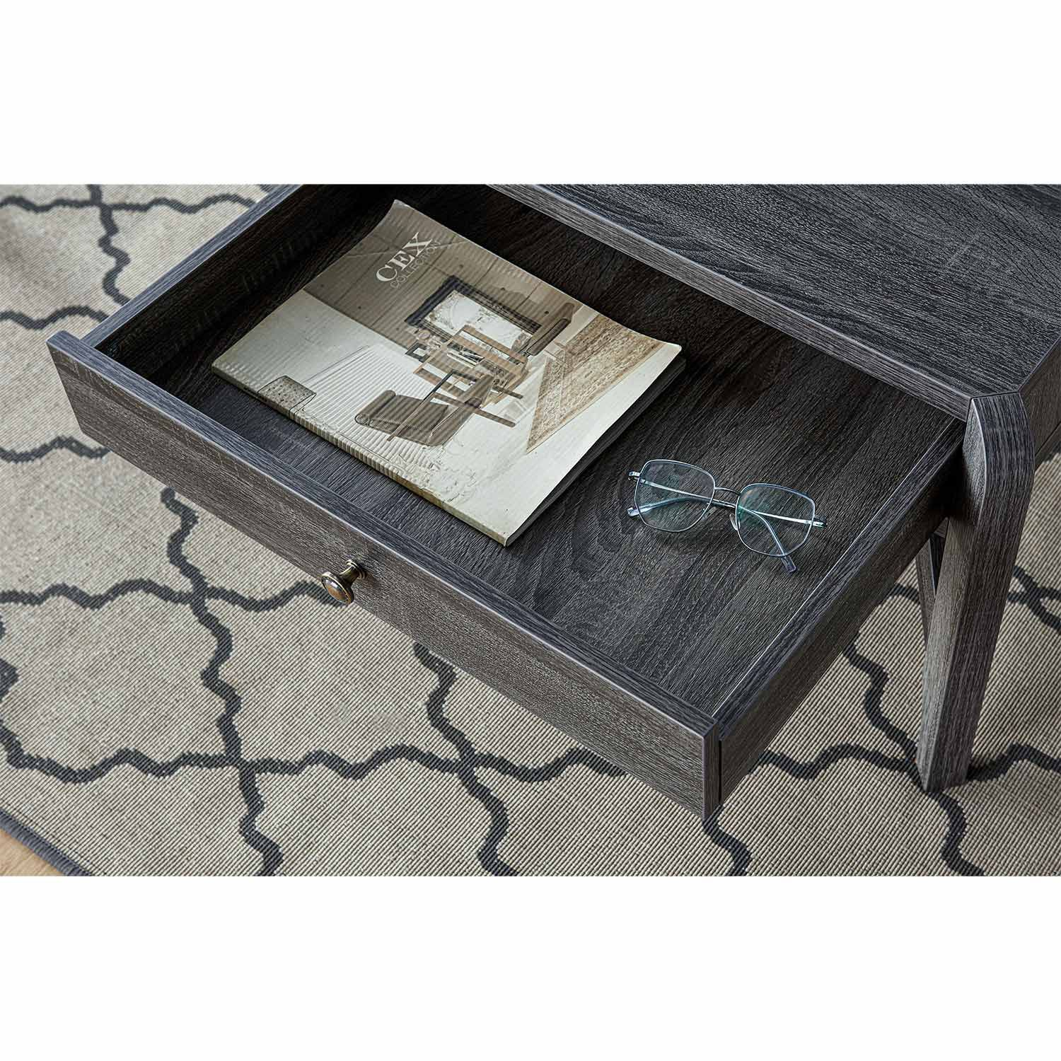 Grey Coffee Table With Storage Living Room Furniture Kent Building Supplies
