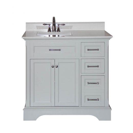 Kent Ca Covered Bridge Cabinetry 36 Quot Light Grey Vanity