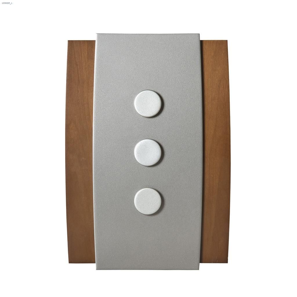 Honeywell International Natural Wood Glass Saddle Metal Buildings Wired Brown Decor Door Chime