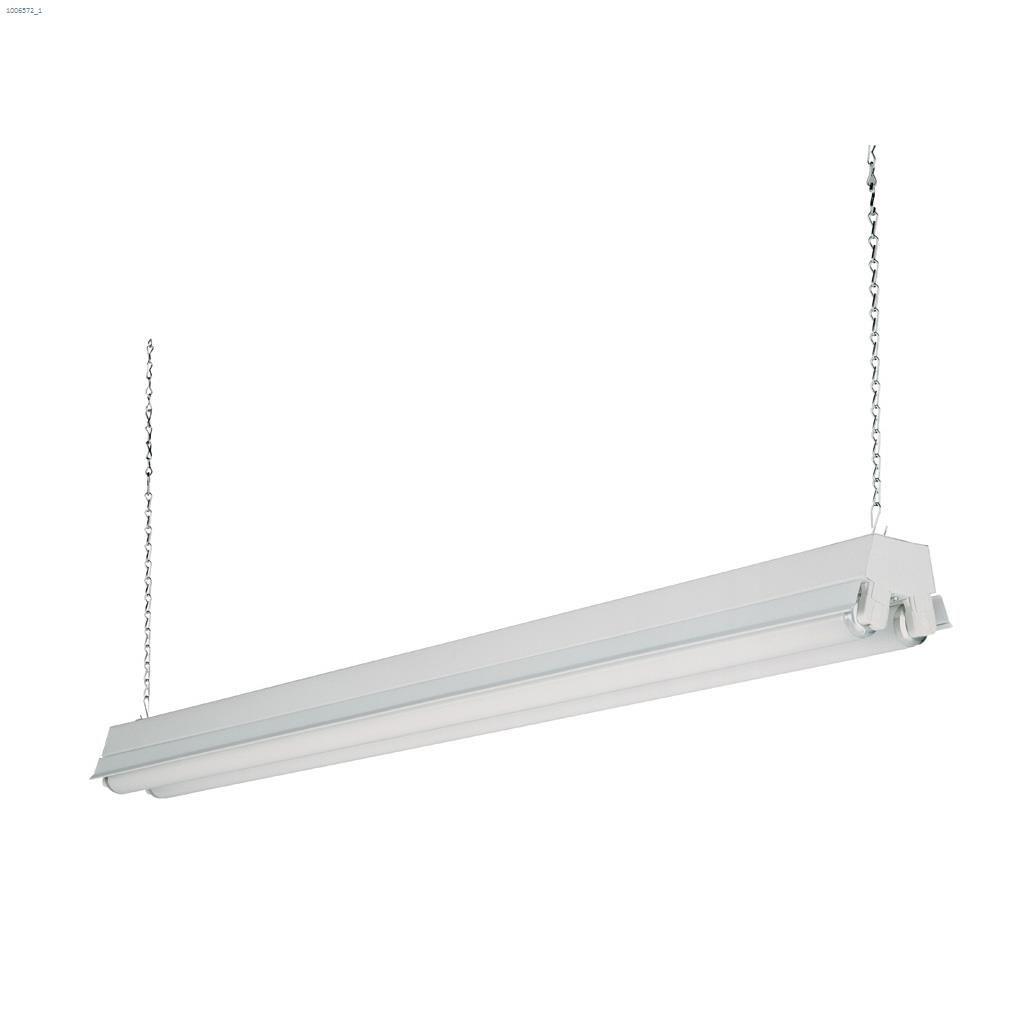 2 light t8 32 watt white fluorescent shop light