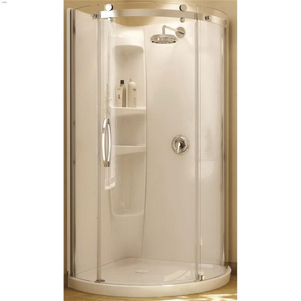 Kent.ca | Maax Bath - White Olympia Round Shower Wall Set | Kent ...
