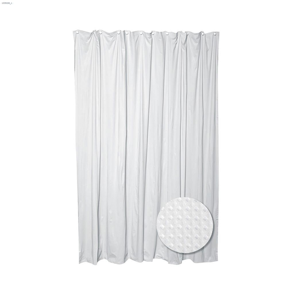 zenith products 70 x 72 white luxury hotel waffle weave shower curtain kent. Black Bedroom Furniture Sets. Home Design Ideas