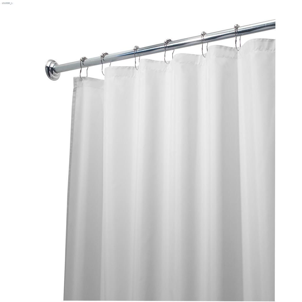 96 White Polyester Fabric Shower Curtain 72