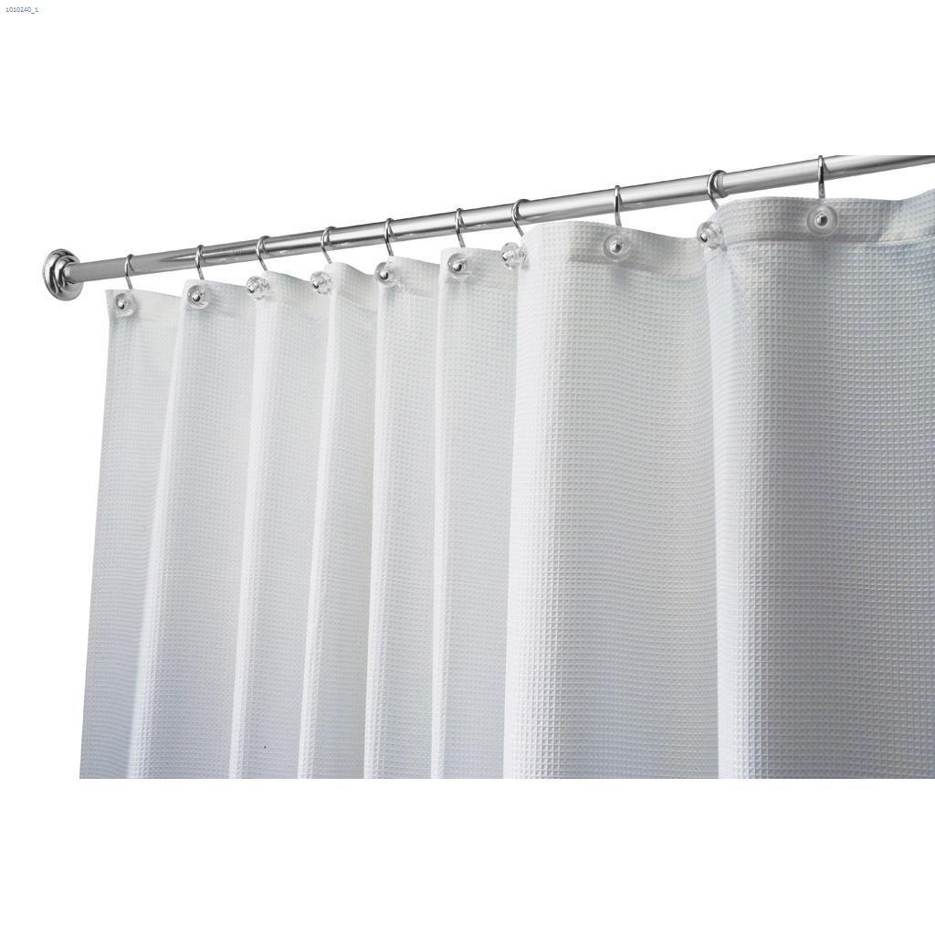 78 White Fabric Carlton Shower Curtain 54