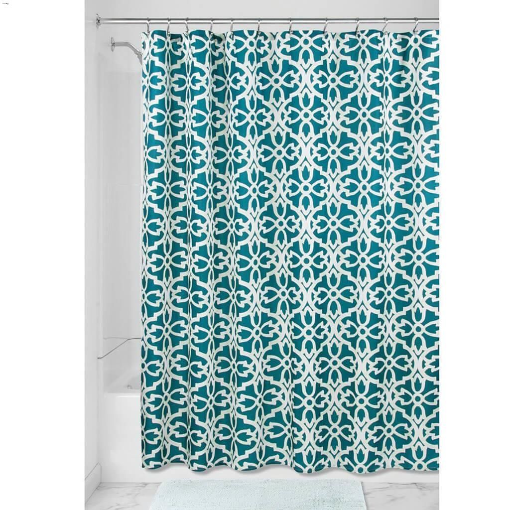 Teal Sage Polyester Adele Shower Curtain 72