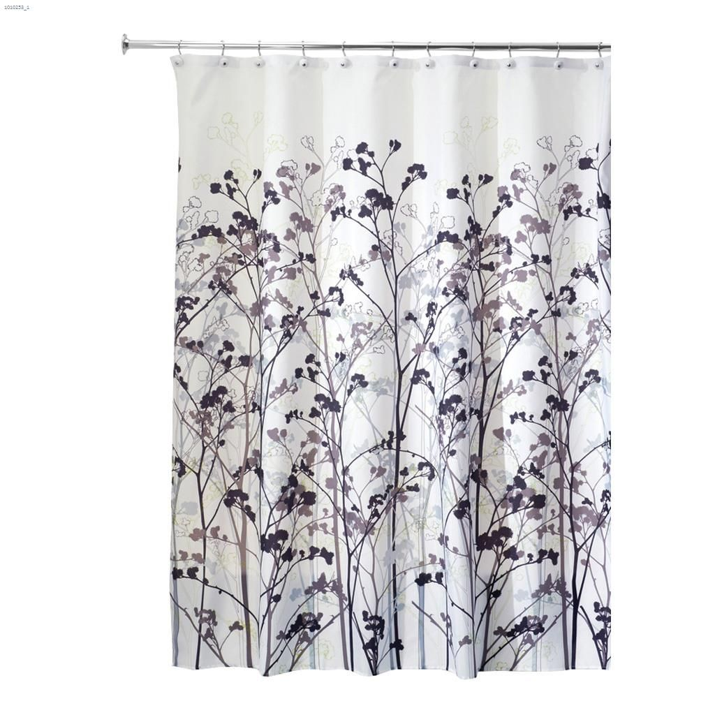 Polyester Botanical Shower Curtain 72