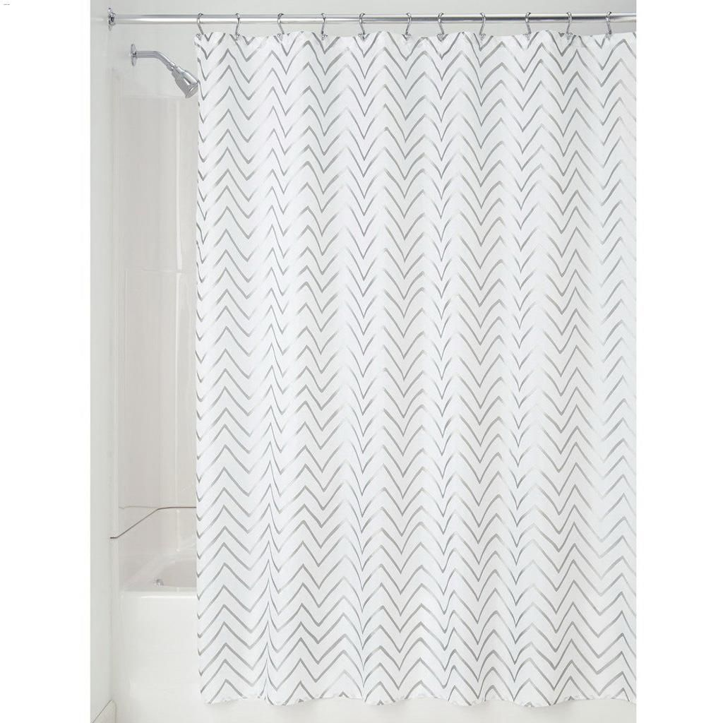 ... Silver Fabric Shower Curtain. 72\