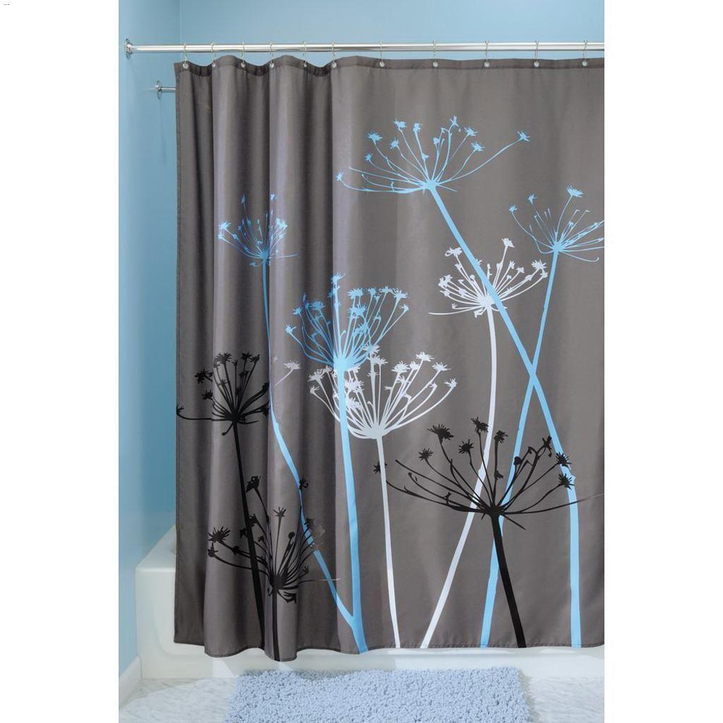 Kentca Interdesign 72 X 72 Grayblue Polyester Thistle Shower