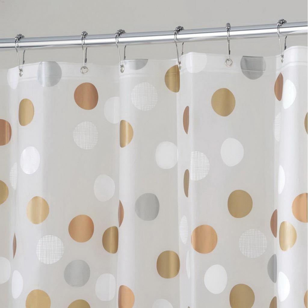 Kentca Interdesign 72 X 72 Metallic Peva Gilly Dot Shower