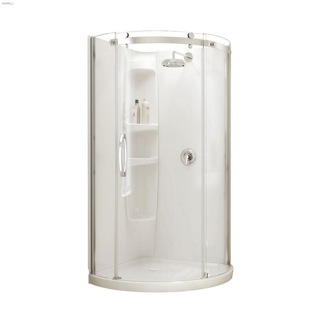 Maax Bath - Chrome Plated Shower Door, Drain