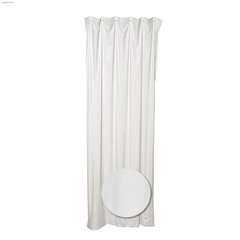 Home 70 X 72 White Vinyl Shower Curtain Liner