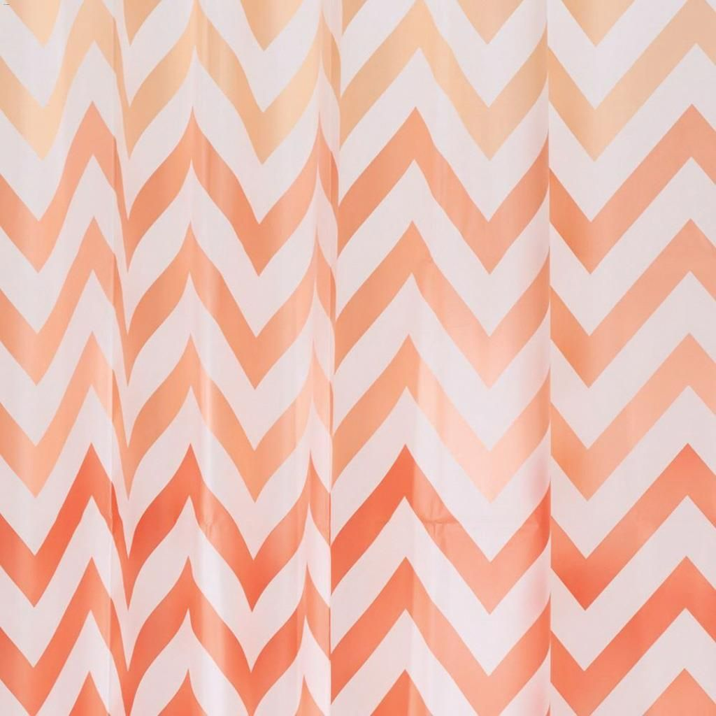 Home 72 X PEVA Ombre Chevron Shower Curtain