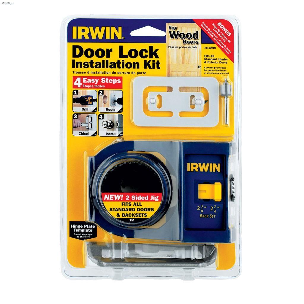 Kent Irwin Tools Wood Door Lock Installation Kit Kent
