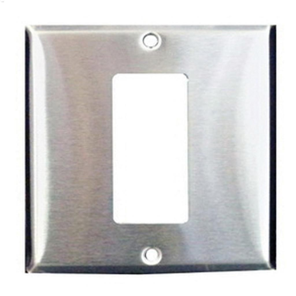Cooper Wiring Devices Chrome Razor Steel Decora Gfci Receptacles Receptacle Wall Plate