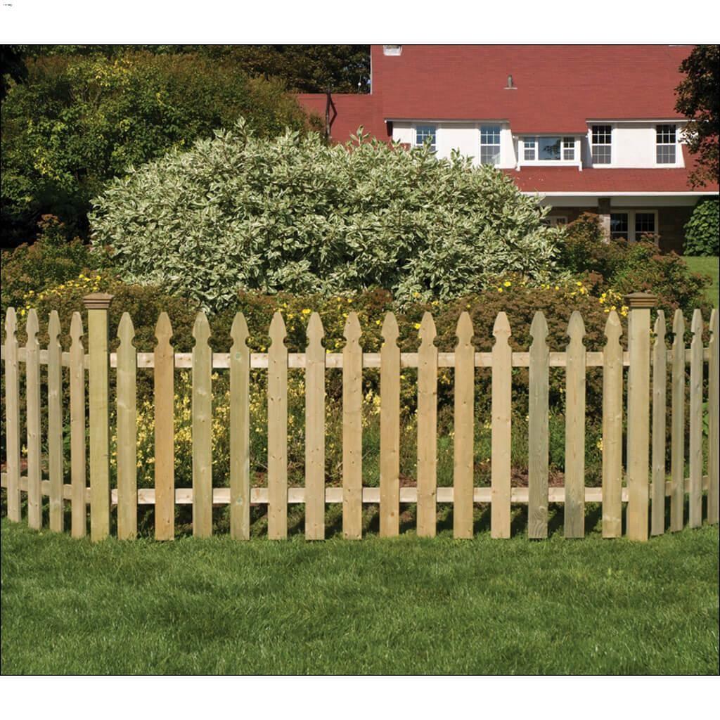 "42"" X 8' Gothic Picket Fence Panel"