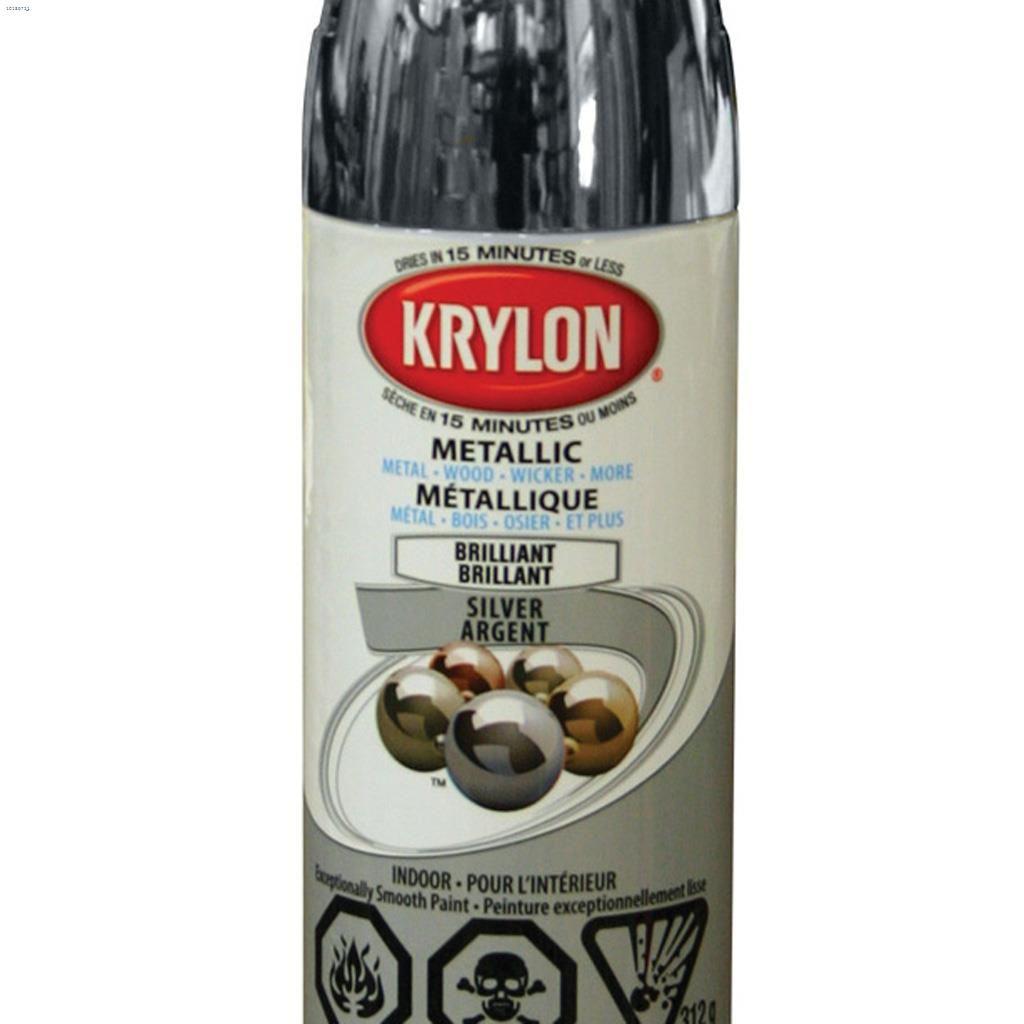Kentca Krylon 1146 Oz Metallic Bright Silver Spray Paint