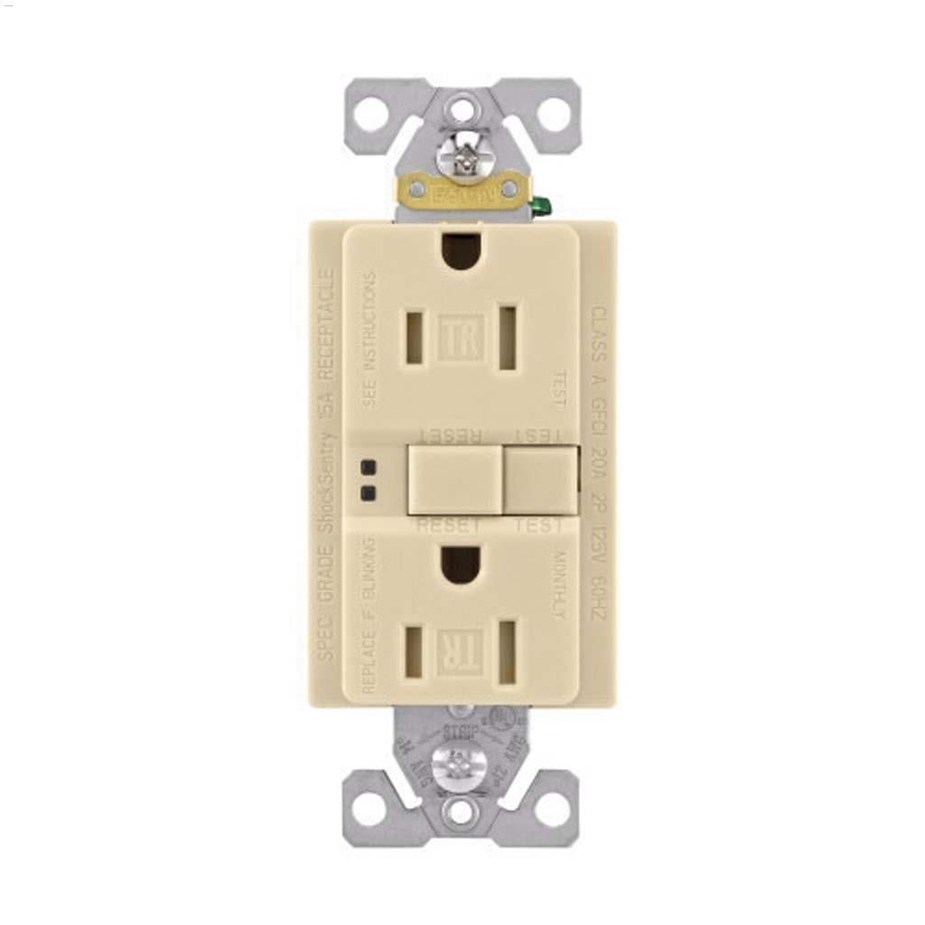 Cooper Wiring Devices Ivory Gfci Receptacle 15a 2p 3w A