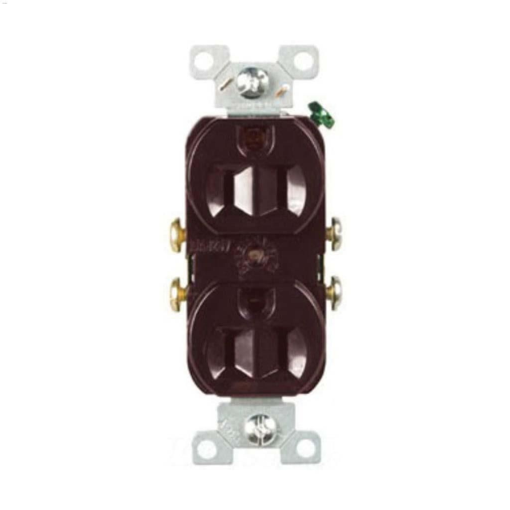 Cooper Wiring Devices Brown Duplex Receptacle 15a 2p 3w
