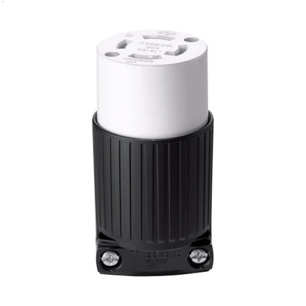 Cooper Wiring Devices Nylon Black White Twist Lock A L1430 Plug Connector 30a 125 250v 3p
