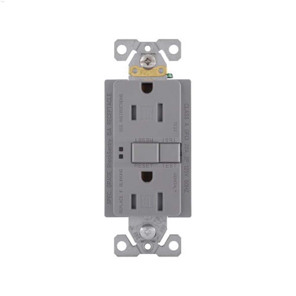 Cooper Wiring Devices Silver Granite Gfci Receptacle 15a Receptacles 2p 3w