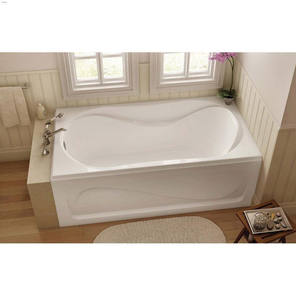 Kent Ca Maax Bath Cocoon 6636 White End Rectangular Bath Tub